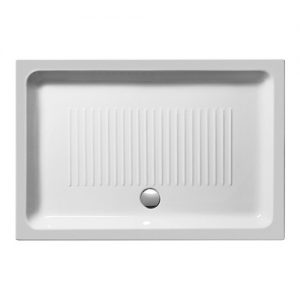 GSI Basic 2991 100Χ72cm Ντουζιέρα Πορσελάνη Λευκή Παραλληλόγραμμη