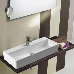 Serel Tetra 2048 Κρεμαστός/Επικαθήμενος/Επιτραπέζιος Νιπτήρας Μπάνιου 80x35cm