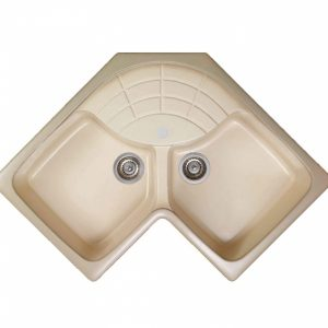 Sanitec 310 83x83x50cm Γωνιακός Συνθετικός Νεροχύτης Κουζίνας