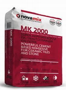 Κόλλα Πλακιδίων Novamix MK 2000 Super Ακρυλική κόλλα για γρανιτοπλακίδια C2TE S2 25kg