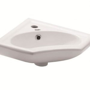 Νιπτήρας Μπάνιου Corner Huida 45x35 Κρεμαστός/Γωνιακός/Επίτοιχος