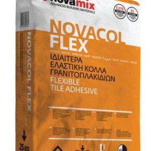 Κόλλα Πλακιδίων Novamix NOVACOL FLEX Ιδιαίτερα ενισχυμένη - ελαστική κόλλα λεπτού στρώματος για κεραμικά πλακίδια και γρανιτοπλακίδια C2TE S1 25kg