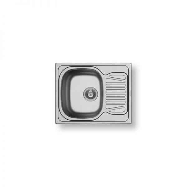 Pyramis Sparta 62X50 1B 1D 100125201 Νεροχύτης Ανοξείδωτος