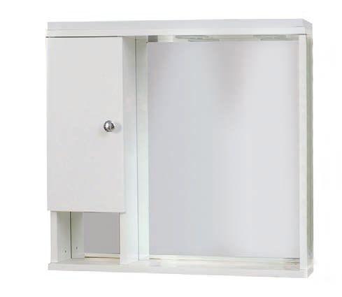 Drop 6KLR060WH Καθρέπτης Μπάνιου με Ντουλάπι Κρεμαστός Λευκός 60cm