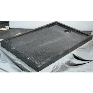 Imso Piatto Doccia 80x120 cm Ντουζιέρα Πέτρινη Beige/Nero