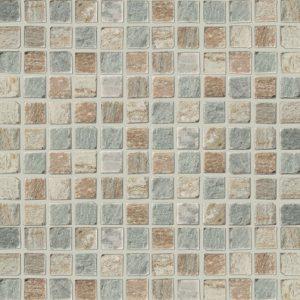 Imso Quarzite 3D Ψηφίδα Χώρου Πέτρας από Φυσικό Μάρμαρο 2.3x2.3 Beige/Nero/Multi