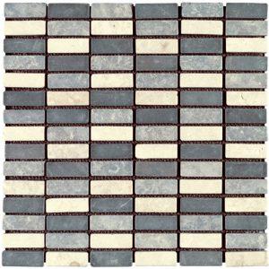 Imso Regular Ψηφίδα Χώρου Πέτρας από Φυσικό Μάρμαρο 1.7x4.8 Brown/Black