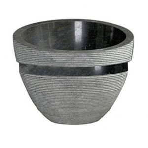 Bati Ratu Φ50 cm Νιπτήρας Μπάνιου Επιτραπέζιος/Επικαθήμενος Πέτρινος Beige/Nero