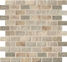 Imso Brick Ψηφίδα Χώρου Πέτρας από Φυσικό Μάρμαρο 2.3x4.8 Beige/Nero/Multi