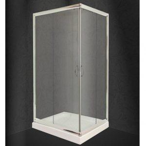 Καμπίνα Ντουζιέρας Nude Διάφανη Ασύμμετρη 80x100cm