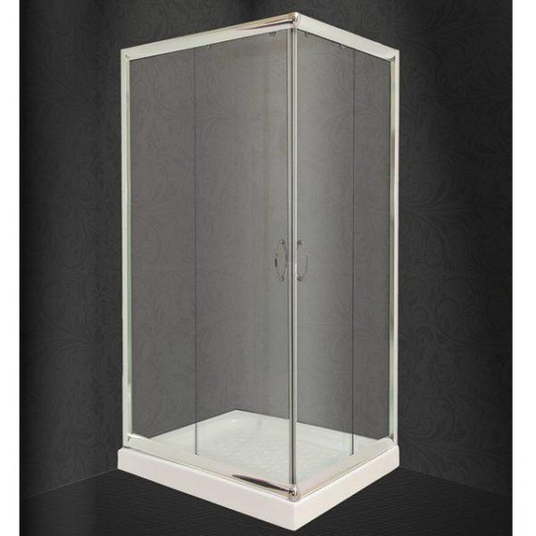 Καμπίνα Ντουζιέρας Nude Διάφανη Ασύμμετρη 72x90cm