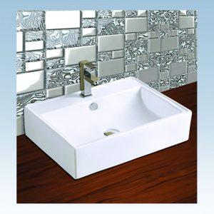 Κεραφίνα Κάλυμνος (ΕΜ1607) Νιπτήρας Μπάνιου Επιτραπέζιος/Επικαθήμενος 610x460x160