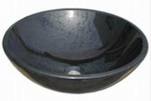 Νιπτήρας Μπάνιου Πέτρινος Μαύρος Akrolithos D42-H14
