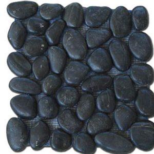 Akrolithos Βότσαλο Λάμψη Μαύρη 30x30cm