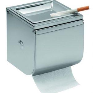 Gloria Tabaco Χαρτοθήκη Inox με τασάκι για το Μπάνιο