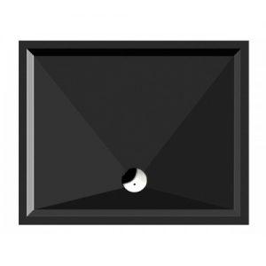 GSI Slim 4598 Black 120Χ80cm Ντουζιέρα Πορσελάνης Μαύρη
