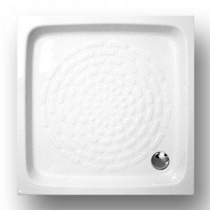 Gloria 75x75cm Ντουζιέρα Πορσελάνη Τετράγωνη Λευκή (27-3201)