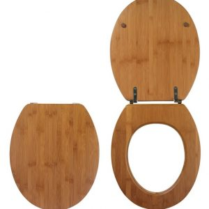 Κάλυμμα-Καπάκι Λεκάνης τουαλέτας Bamboo 43-45x37.5cm Wirquin Γαλλίας