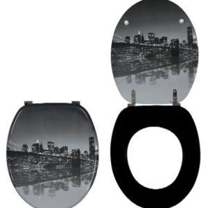 Κάλυμμα-Καπάκι  Λεκάνης τουαλέτας Ξύλινο Brooklyn Bridge 40x37.6cm Wirquin Γαλλίας