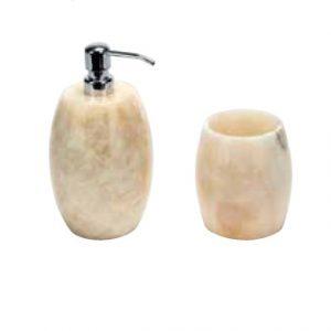 Imso Onyx Σέτ 2 τμχ αξεσουάρ μπάνιου πέτρινα