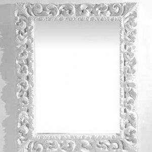 Καθρέπτης Ρετρό (RETRO) 87x107cm Λευκός