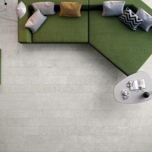 Πλακάκι Δαπέδου Μεγάλων Διαστάσεων Cerdisa Blackboard White Porcellanato Εσωτερικού-Εξωτερικού Χώρου 60X60 &60X120 cm
