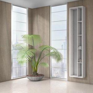 Καθρέπτης με Ράφια 40x170h Drop Wall 35 White Beige