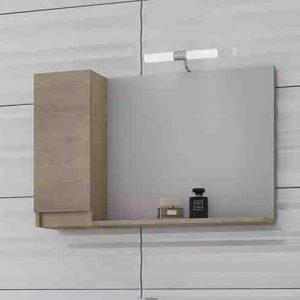 Drop Senso 85 Καθρέπτης Μπάνιου με Ντουλάπι Κρεμαστός 5KSNL85WD Wood