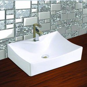 Κεραφίνα Clairie ΕΜ1615 Νιπτήρας Μπάνιου Επιτραπέζιος/Επικαθήμενος 540x395x130mm