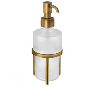 Sanco Retro Α25-90301 Επικαθήμενο Dispenser Μπάνιου Ρετρό Σαπουνοθήκη Υγρού Σαπουνιού Μπρονζέ