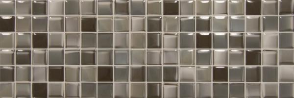 Πλακάκι 20Χ60cm Ψηφίδα Μπάνιου/Κουζίνας Mosaico Chip Antracita
