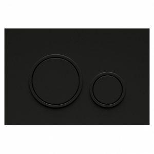 Bocchi Circle P47 Black Easy Touch Μαύρη Πλακέτα Χειρισμού Για Καζανάκι Εντοιχισμού