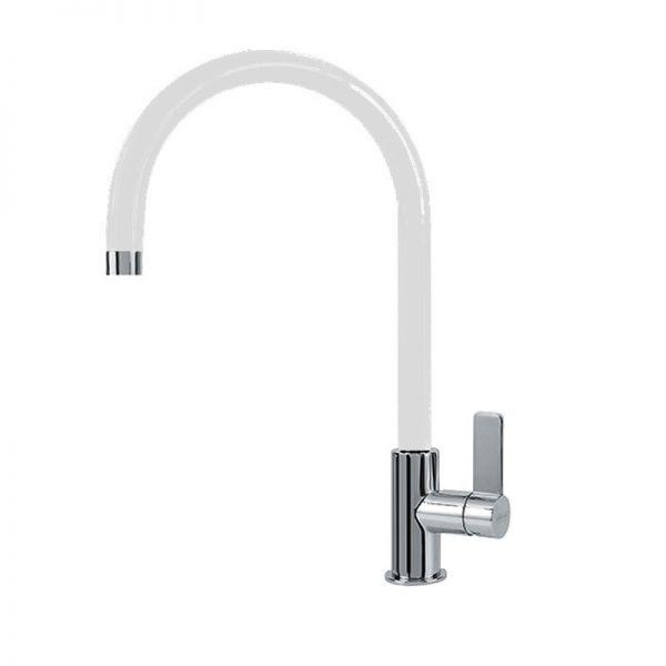 Franke Ambient Standard Χρωμέ/Λευκό Ψηλή Μπαταρία Κουζίνας 3156256003