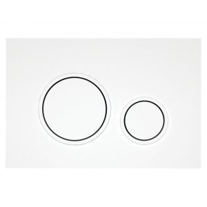 Bocchi Circle P47 White Easy Touch Λευκή Πλακέτα Χειρισμού Για Καζανάκι Εντοιχισμού