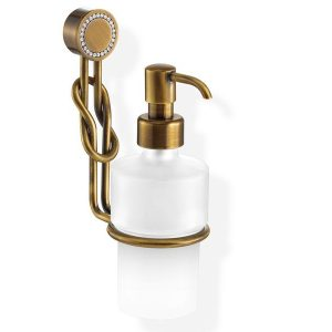 Sanco Stella A25-Z1-16422 Dispenser Μπάνιου Σαπουνοθήκη Υγρού Σαπουνιού Μπρονζέ με Swarovski κρυστάλλους