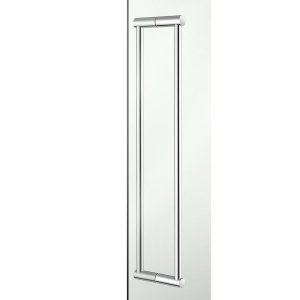 Sanco A3-SET-GL0712 Διπλή Λαβή για Τζάμι Πόρτας Χρωμέ Hotel Inspiration