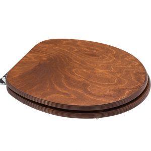 Κάλυμμα-Καπάκι Λεκάνης τουαλέτας 44-49Χ37cm Antique/Καφέ Ρουστίκ Universal Cwatant