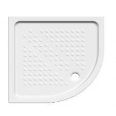 Roca 80X80cm Ντουζιέρα Πορσελάνη Λευκή Γωνιακή Ημικυκλική