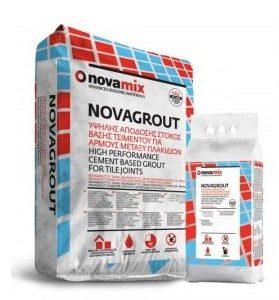 Αρμόστοκος Πλακιδίων Υψηλής Αντοχής Βάσης Τσιμέντου Novamix Novagrout F (5kg)