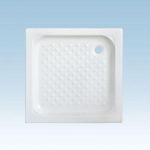 Κεραφίνα 80X80cm Ντουζιέρα Πορσελάνη Λευκή Τετράγωνη EM1098