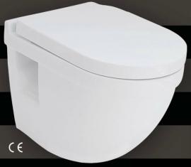 Gloria Aristea (17-2603) 52x36x38h ΛεκάνηΤουαλέτας Κρεμαστή με Κάθισμα Softclose
