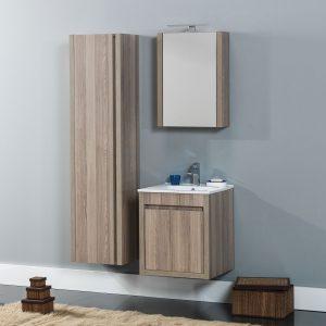 Alpin 50 Επιπλο μπάνιου κρεμαστό 50cm με νιπτήρα και καθρέφτη