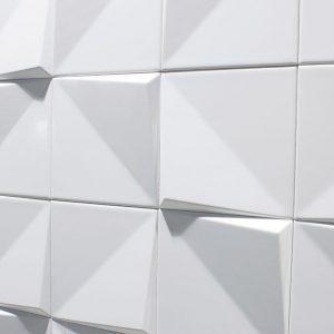 Πλακάκι 12,5Χ12,5 cm Επένδυσης Τοίχου Διακοσμητικό Λευκό Essential Noudel White Matt