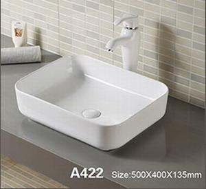 Domistyle A422 50x40x13.5cm Νιπτήρας Μπάνιου Επικαθήμενος / Επιτραπέζιος