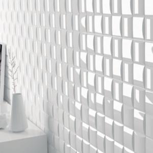Πλακάκι 12,5Χ12,5 cm Επένδυσης Τοίχου Διακοσμητικό Λευκό Essential Wicker White Gloss