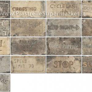 Πλακάκι 10Χ20 cm Επένδυσης Τοίχου Διακοσμητικό New York Road Signs Mix Broadway