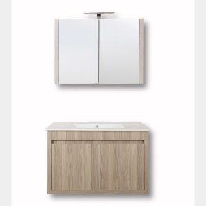 Alpin 60 Επιπλο μπάνιου κρεμαστό 60cm με νιπτήρα και καθρέφτη
