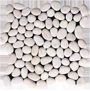 Βότσαλο Sasso Bompato 30x30 Λευκό/Μπέζ/Μαύρο