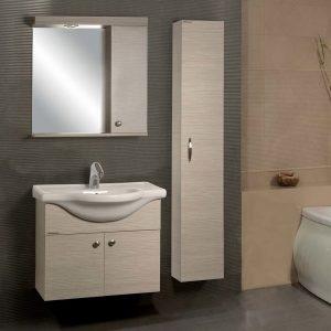 Ancobath Έλλη Eco 65 Έπιπλο Μπάνιου Σετ με νιπτήρα και καθρέπτη
