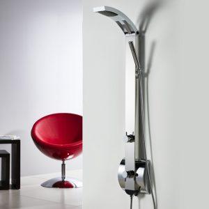 Dolce Vita Idea-110 Inox Mirror Στήλη Nτους με Mίκτη και Eκτροπέα 2 Εξόδων